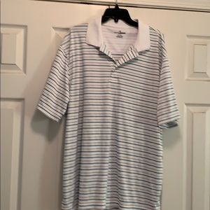 White striped golf polo